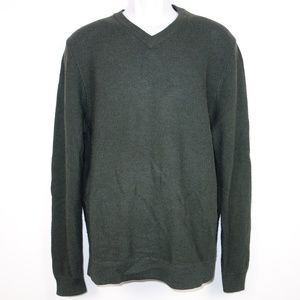 Nordstrom Merino Wool Waffle V Neck Sweater Mens L